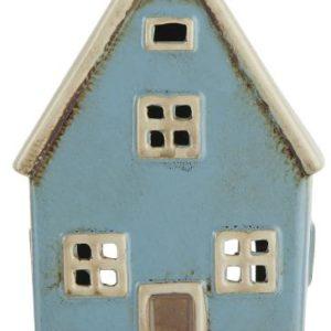 Haus für Teelicht - hellblau