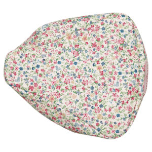 Oilcloth Bike seat cover Sophia white
