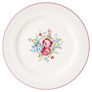 Stoneware Dinner plate Henrietta white