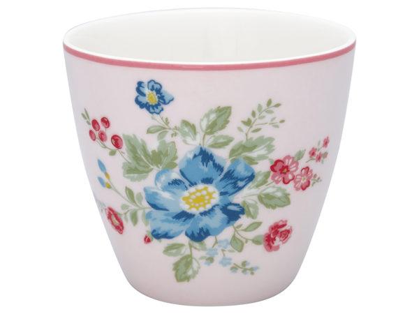 Stoneware Latte cup Roberta pale pink