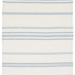 Geschirrtuch natur m/blaugewebtem Muster