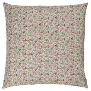 Kissenbezug mit rosa, blauen und grünen Blumen