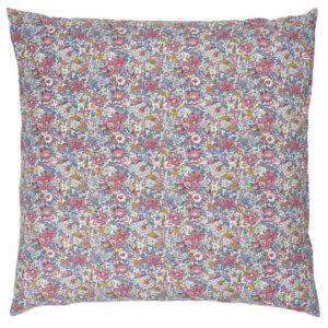 Kissenbezug mit rosa, lila und gelben Blumen