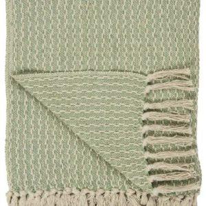 Plaid creme mit grünes Muster