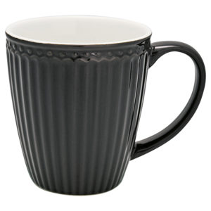 Stoneware Mug Alice dark grey