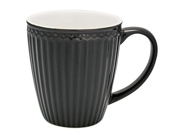 Stoneware Mug Alice dark grey