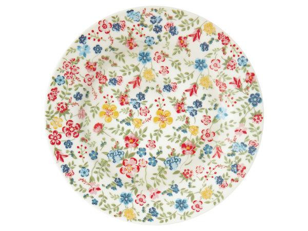 Stoneware Plate Sophia white