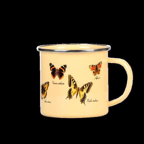 Emaille Becher Schmetterlinge