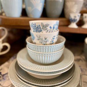 Stoneware Latte cup Donna blue