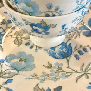 Stoneware Plate Donna blue