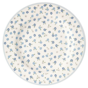 Stoneware Small plate Ellise white