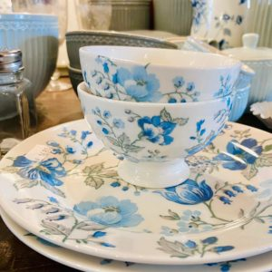 Stoneware Snack bowl Donna blue