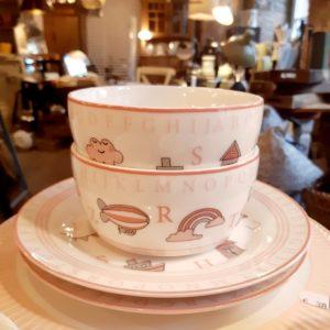 Kindergeschirr bowl Charlie pink
