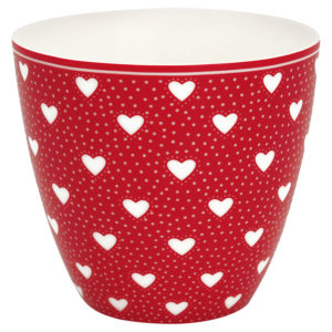 Stoneware Latte cup Penny red