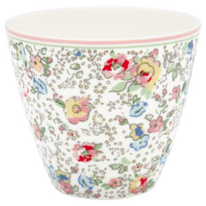 Stoneware Latte cup Vivianne white