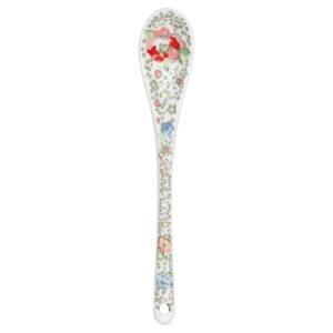 Stoneware Spoon Vivianne white