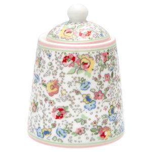 Stoneware Sugar pot Vivianne white